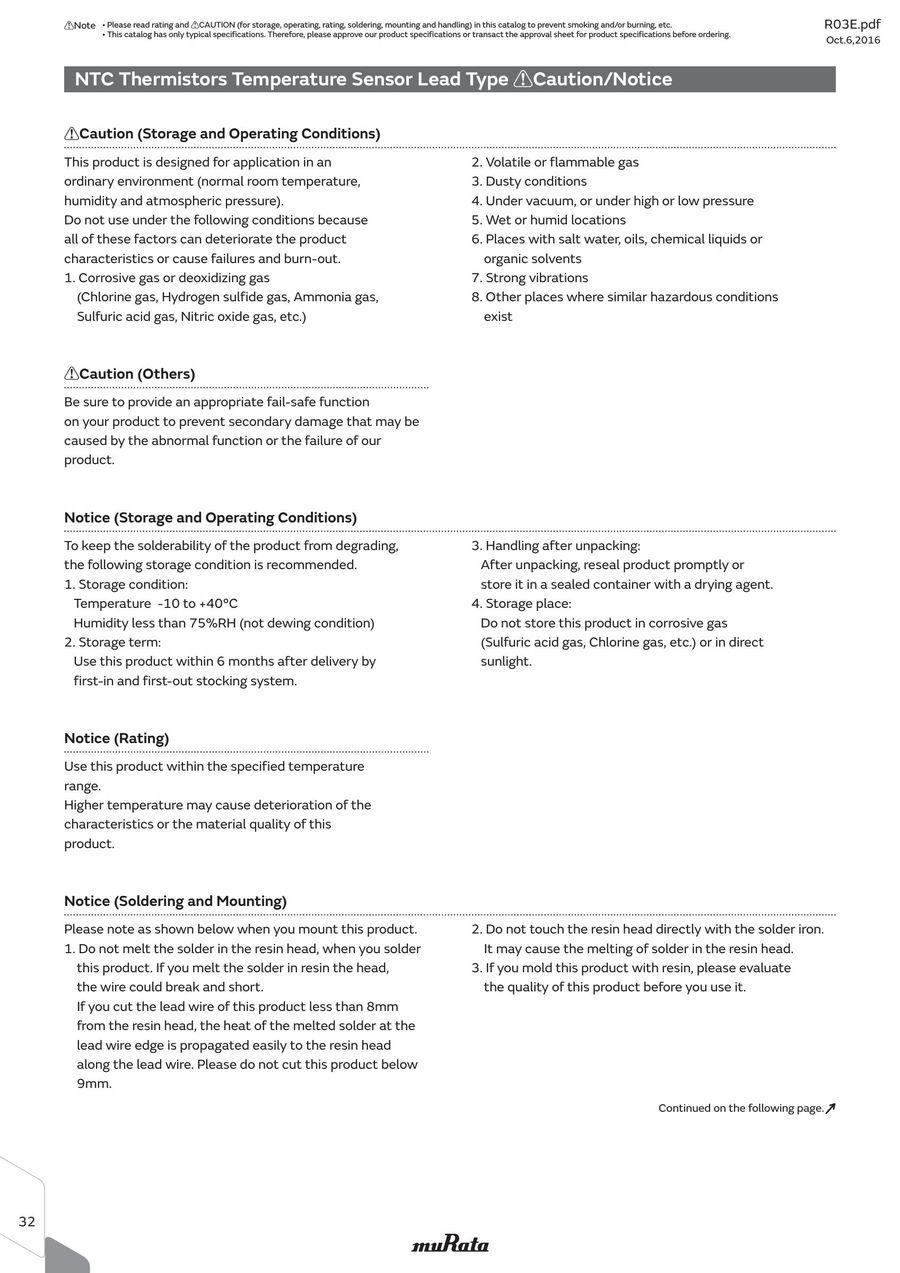Page 37 of NTC/PTC Thermistors for Automotive 06/10/2016