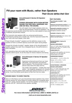 Acoustimass® 3 Series IV Stereo Speaker System
