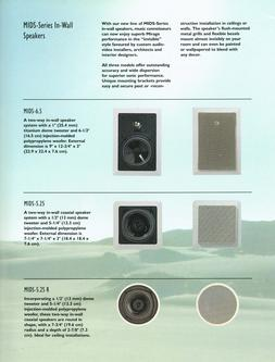Mids 5.25 IN-WALL SPEAKERS