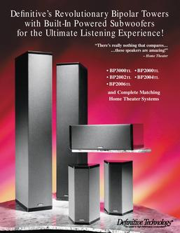 definitive technology bp2004 speakers in bipolar supertowers rh who sells it com