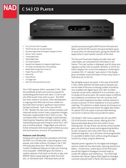C 542 CD Player