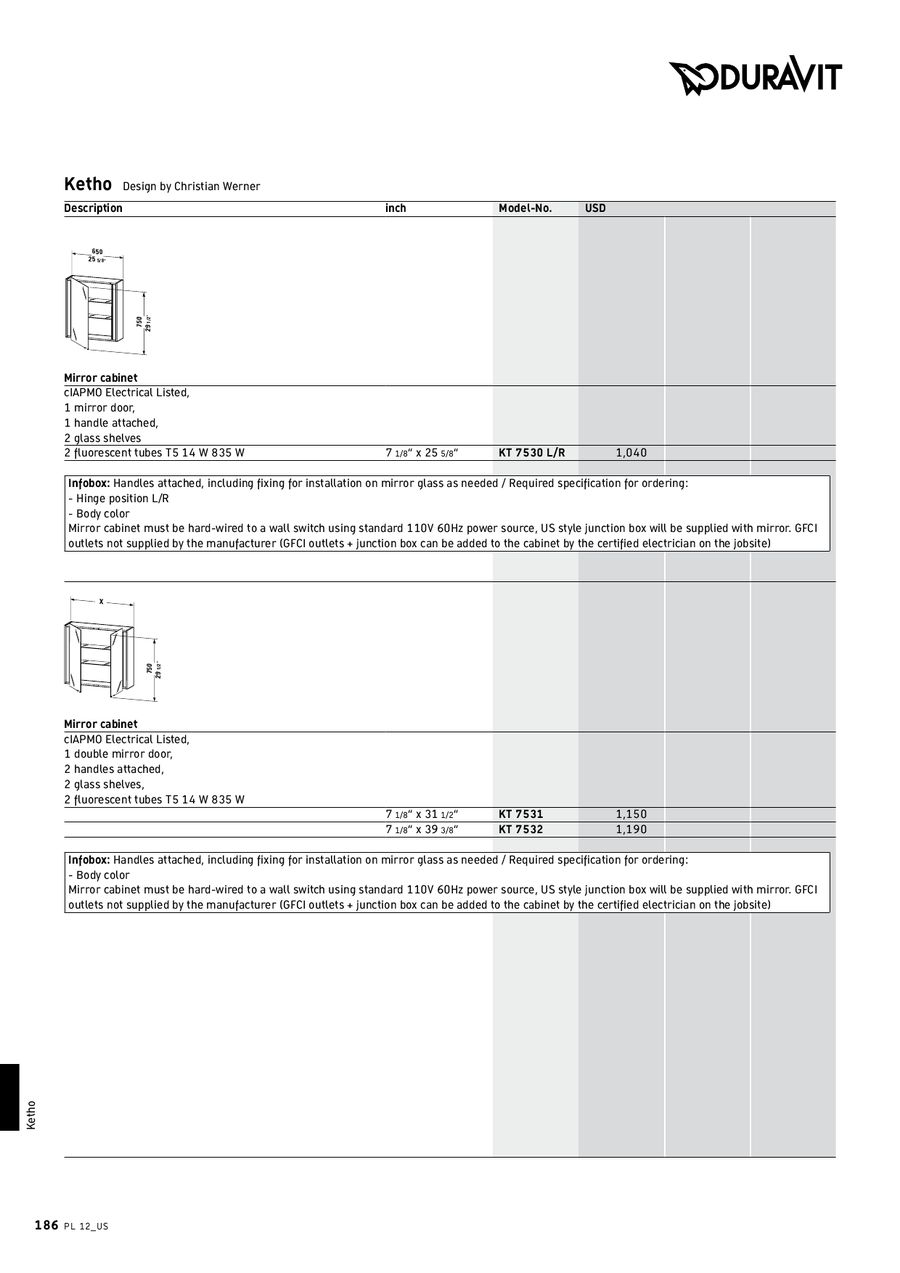 Page 184 of Pricelist 12 (US)