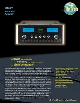 MA6900 Integrated Amplifier