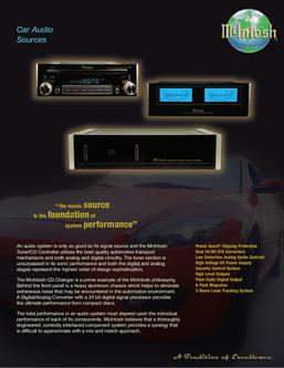 Catalogue: McIntosh Laboratory, Inc. Car Audio Control Centers & CD Changers