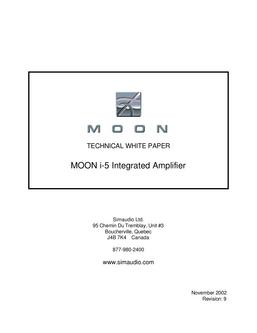 Moon i-5 Integrated Amplifier