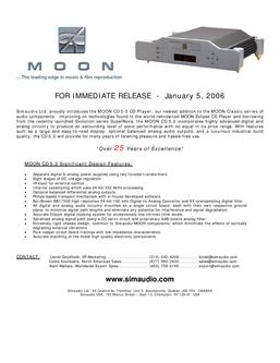 Moon CD 5.3 CD Player