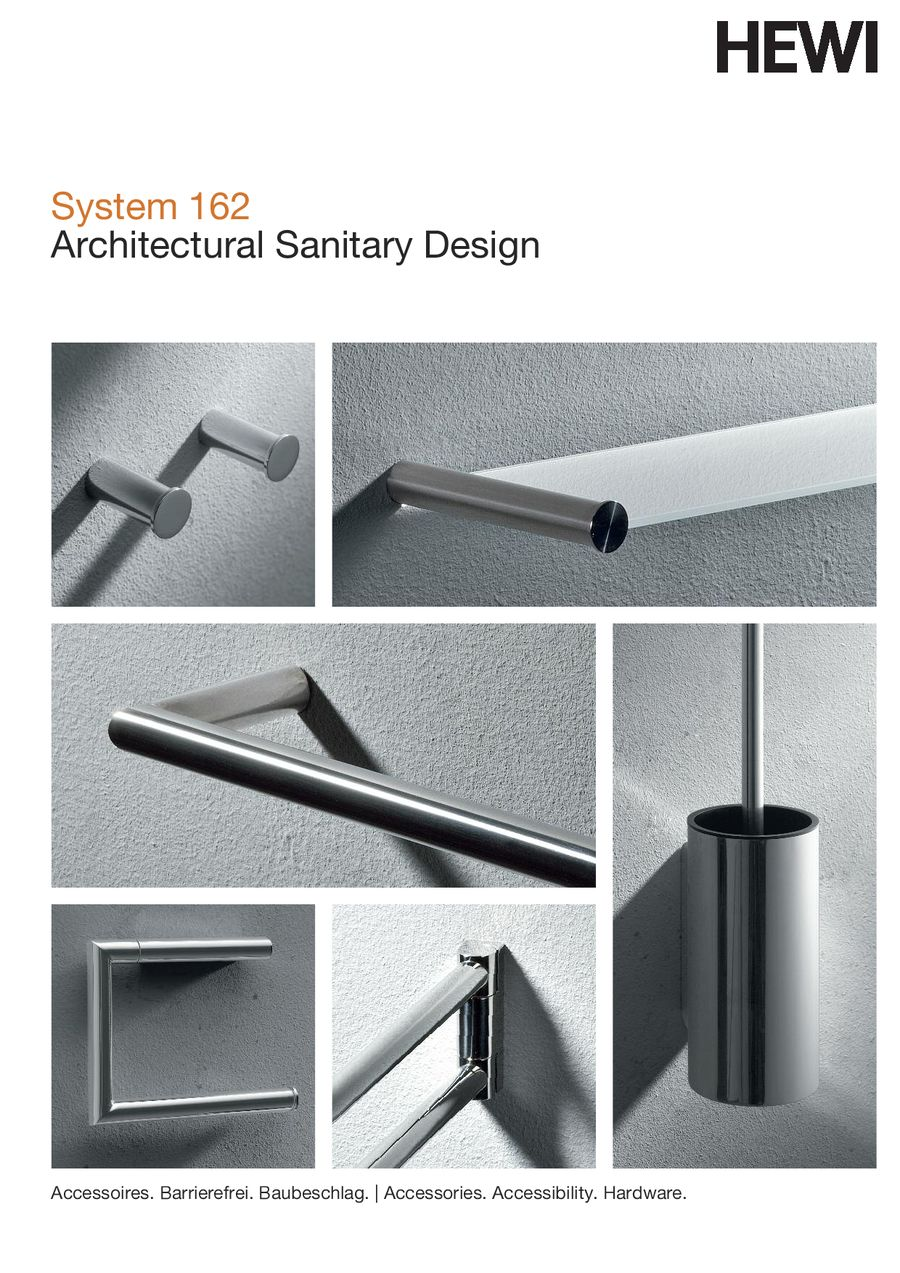 System 162 | Architectural Sanitary Design 2013 by HEWI ...