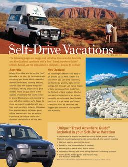 Self Drive Vacations, Car Rental, Motorhomes