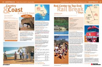 hotel brochure sample in country coast red center to top end rail