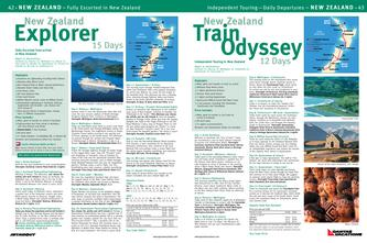 New Zealand Explorer / New Zealand Train Odyssey Tours