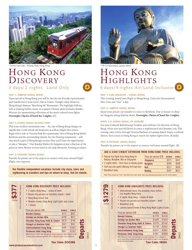 Page 8 of China Travel Brochures & Thailand Travel Brochures