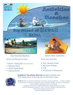 hawaii brochure in activities brochure by sunquest vacations