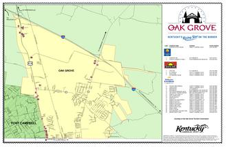 Oak Grove Map by Kentucky