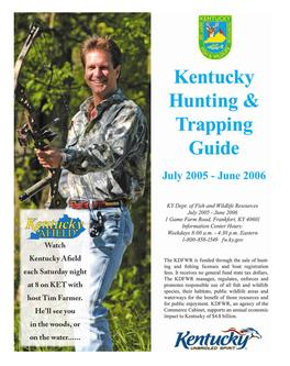 Catalogue: Kentucky's Western Waterland Kentucky Hunting & Trapping Guide