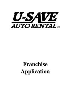 U-Save Rental Franchise Application