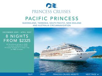Pacific Princess - Queensland, Tasmania, South Pacific, New Zealand