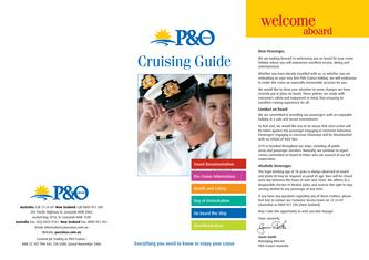 Cruising Guide - Everything you need to know to enjoy your cruise