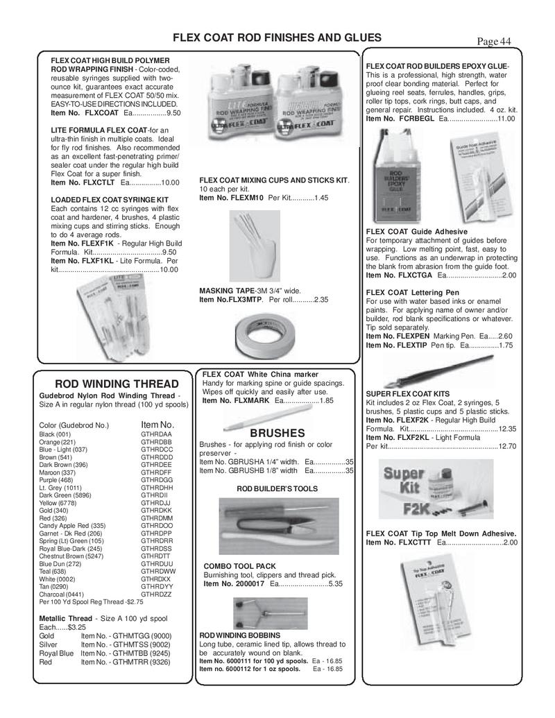 page 42 of fly fishing tackle - fly fishing supplies catalog, Fishing Gear