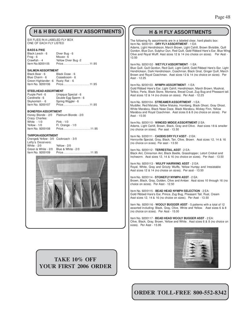 page 46 of fly fishing tackle - fly fishing supplies catalog, Fishing Gear