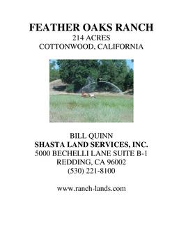 Feather Oaks Ranch - Cottonwood California