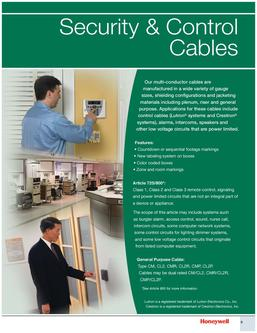 Genesis Security & Control Cables