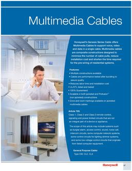 Genesis Multimedia Cables