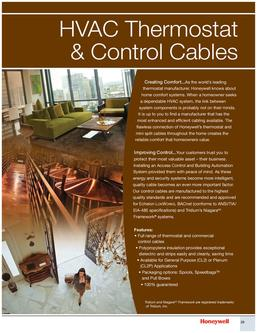 HVAC Thermostat & Control Cables