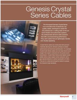 Genesis Crystal Series Cables