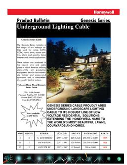 Underground Lighting Cable