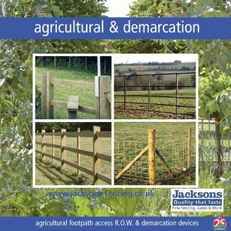 Agricultural footpath access R.O.W. & demarcation devices 2010