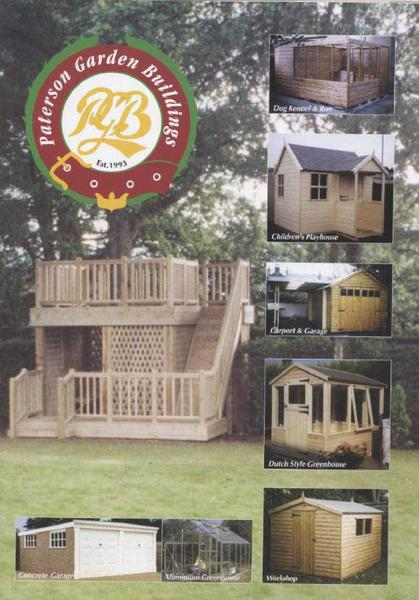 Catalogue: Paterson Garden Buildings Garden Buildings & Garden Fencing Brochure