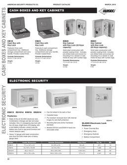 Cash Boxes, Key Cabinets & Electronic Security