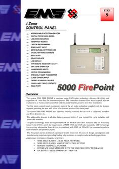 5000 FirePoint 4 Zone Control Panel