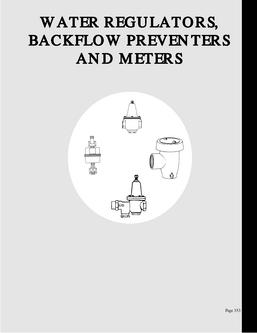 Water Regulators and Blackflow Preventers & Meters