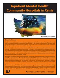 Inpatient Mental Health: Community Hospitals in Crisis