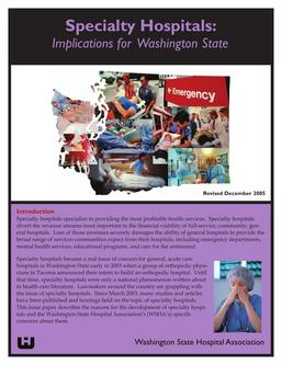 Specialty Hospitals by Washington State Hospital Association