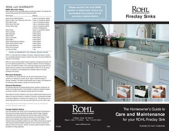 Fireclay Sinks Homeowner's Guide to Care and Maintenance