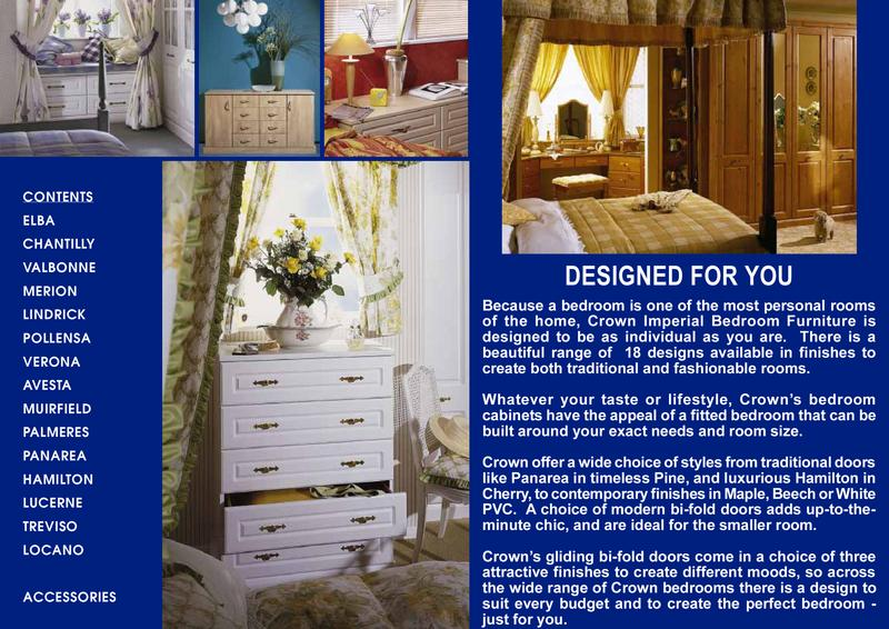 Imperial Bedroom Brochure By Crown Products Kent Limited