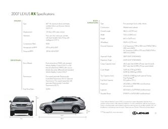 2007 Lexus RX Specifications