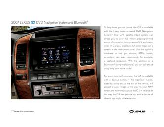 2007 Lexus GX DVD Navigation System and Bluetooth