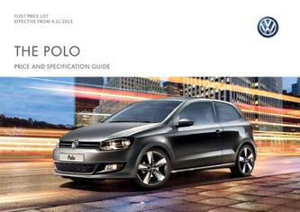 Polo Company car P11D price list 4.11.2013