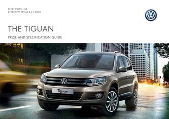 Tiguan Company car P11D price list 4.11.2013