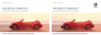 The Beetle Cabriolet price list 2014