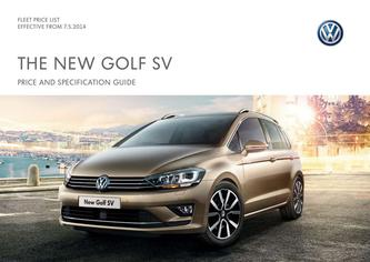 Golf SV Company car P11D price list 2014