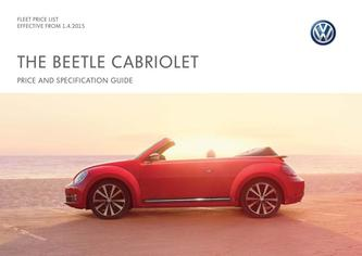 The Beetle Cabriolet Company car P11D price list 2015