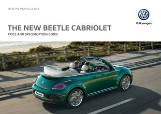 New Beetle Cabriolet Price Guide 12.2016