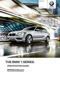 BMW 1 Series Specification Guide 2014
