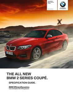BMW 2 Series Coupe Specification Guide 2014