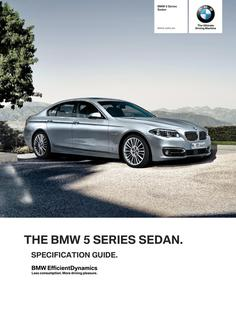BMW 5 Series Sedan Spec Guide 2014