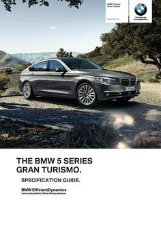 BMW 5 Series Gran Turismo Spec Guide 2014